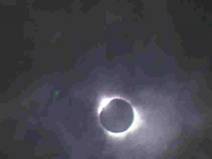 Diamond Ring around Sun - Solar Eclipse