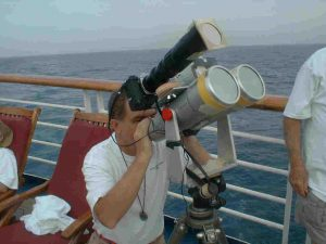Telescope aboard ship